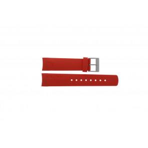 Nautica bracelet de montre A18639G / A09902 / A37508G / N19524 / A13548G / A36003 / A13015 / N14611G Caoutchouc Rouge 22mm