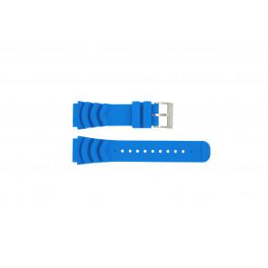 Nautica bracelet de montre A18631 En caoutchouc Bleu clair 22mm