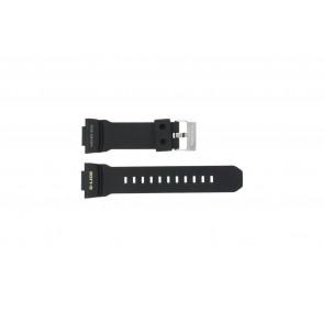 Casio bracelet de montre GLX-150-1W En caoutchouc Noir 16mm