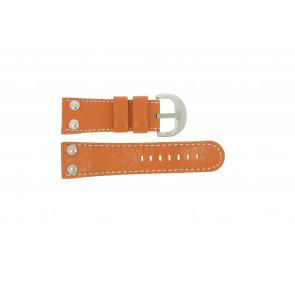 Bracelet de montre Universel OVR-ORANJE-28MM Cuir Orange 28mm