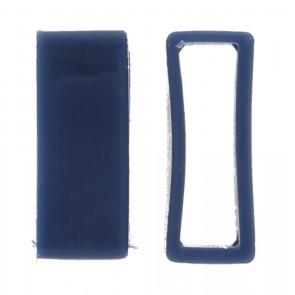 Boucle titulaire bracelet de montre en caoutchouc bleu 24mm