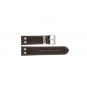 Bracelet de montre Dutch Forces 35C010202 Cuir Brun 24mm