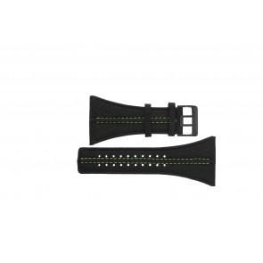 Bracelet de montre Police PL13497JSB.02 / GR Cuir Noir 44mm