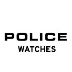 Police bracelet de montre PL-14385J Cuir Noir