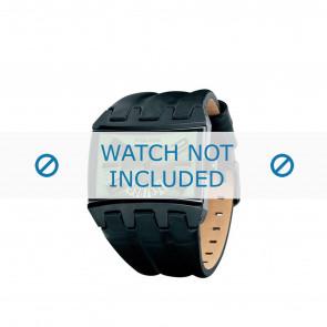 Police bracelet de montre PL-12079JSB-05A Cuir Noir 36mm + coutures brunes
