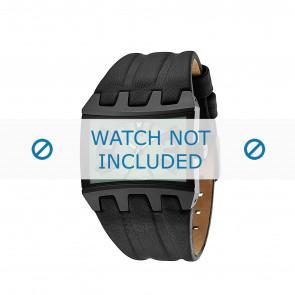 Police bracelet de montre 13420JS-05B Cuir Noir