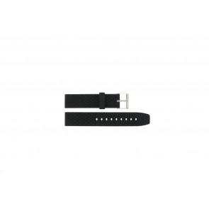 Bracelet de montre PU.102 Plastique Noir 20mm