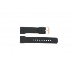Bracelet de montre Pulsar W861-X006 / PQ2046X1 / PP255X Caoutchouc Noir 24mm
