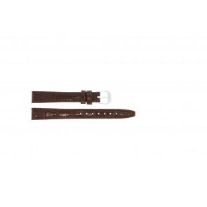 Bracelet de montre en cuir croco brun laque 14mm 082