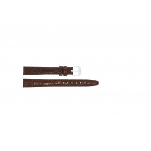 Bracelet de montre en cuir croco brun laque 10mm 082
