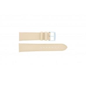 Bracelet de montre en cuir saumon / ocre couleur 24mm 283