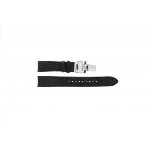 Bracelet de montre Seiko 7D46-0AB0 / SNP015P1 Cuir Noir 20mm
