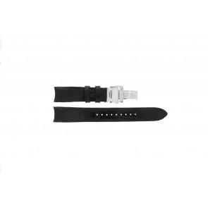 Seiko bracelet de montre 7D48-0AA0 / 7T62-0FF0 / 4KK6JZ / 34H6JZ / SNP005P1 Cuir Noir 20mm + coutures noires
