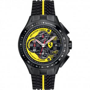Bracelet de montre Ferrari SF.03.1.34.0054-Y Silicone Noir