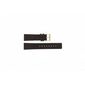 Skagen bracelet de montre 233XXLGL Cuir Brun 23mm