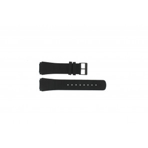 Skagen bracelet de montre 856XLBLB / 856XLBLN Cuir croco Noir 24mm