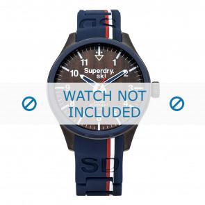 Superdry bracelet de montre SYG185U Silicone Bleu