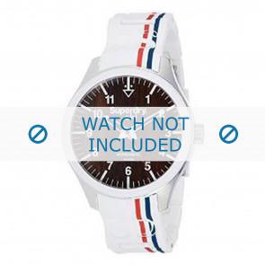 Superdry bracelet de montre SYG185W Silicone Blanc