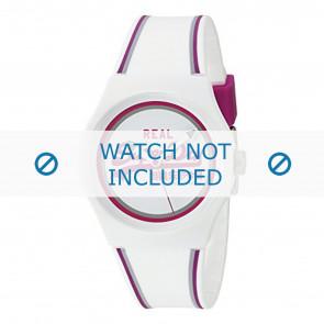 Superdry bracelet de montre SYG198WR Plastique Blanc