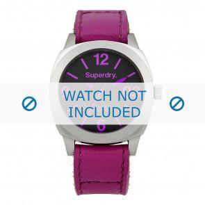 Bracelet de montre Superdry SYL115V Cuir Rose 21mm