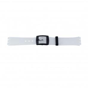 Bracelet de montre Swatch 51.00 Caoutchouc Blanc 17mm