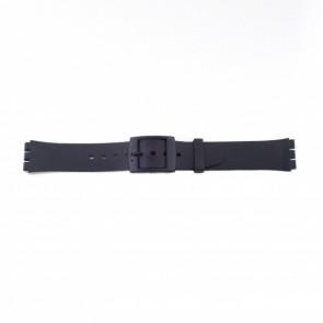 Bracelet en plastique pour le Swatch noir mince version 17mm PVK-P51