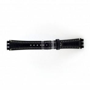 Bracelet de montre pour swatch bleu foncé / gris 19mm ES- 3.05