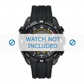 Bracelet de montre Swiss Military Hanowa 06-4174.13.007 / LOC-7 Caoutchouc Noir 24mm