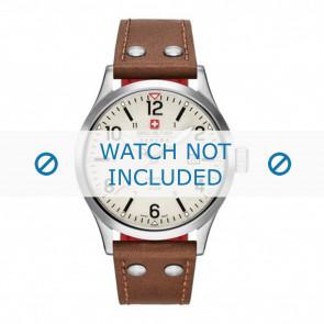 Swiss Military Hanowa bracelet de montre 06-4280.04.002.05 Cuir Cognac 22mm + coutures blanches