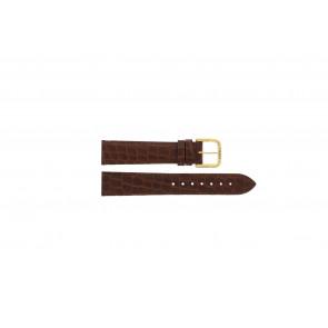 Tissot bracelet de montre 970-122 T870 - T600013060 Cuir croco Brun 18mm
