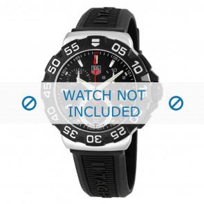Bracelet de montre Tag Heuer BT0714 Caoutchouc Noir 20mm