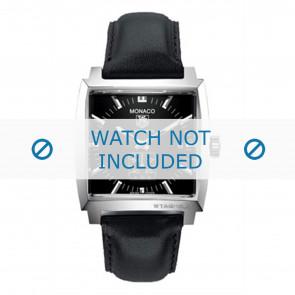 Tag Heuer bracelet de montre FC6171 Cuir Noir + coutures noires
