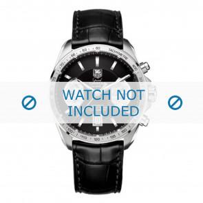 Tag Heuer bracelet de montre FC6225 Cuir Noir + coutures grises