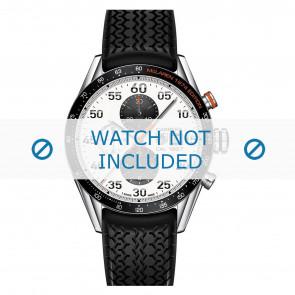 Tag Heuer bracelet de montre FT6033 Caoutchouc Noir