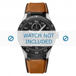 Tag Heuer bracelet de montre FT6070 Cuir Cognac + coutures blanches