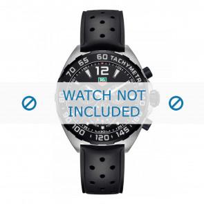 Bracelet de montre Tag Heuer 19,5mm BT0725 / FT8023 / FT8025 Caoutchouc Noir
