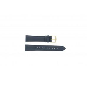 Timex bracelet de montre PW2P63400 Cuir Bleu foncé 18mm