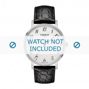 Tissot bracelet de montre T109.410.16.032.00 - T600039639 Cuir croco Noir 19mm + coutures noires
