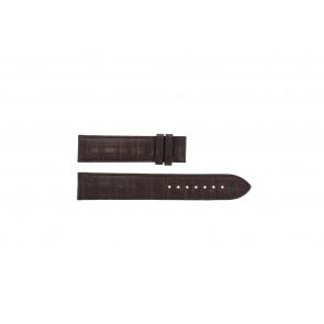 Tissot bracelet de montre T065.430.A - T610029096 / T065.430.160.310.0 Cuir croco Brun 19mm