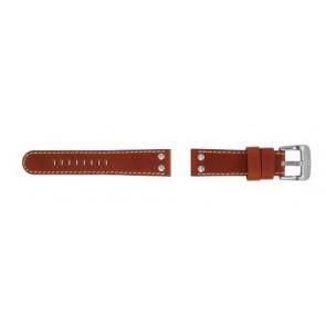 TW Steel bracelet de montre TW24 Cuir Brun 22mm