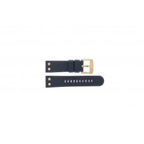 TW Steel bracelet de montre TWB404-405 Cuir Bleu 24mm + coutures bleues