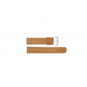 Bracelet de montre Seiko V172-0AG0 / SSC081P1 / L088011J0 Cuir Brun 21mm