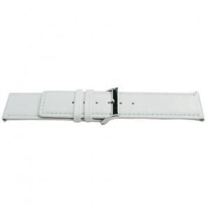 Bracelet de montre Universel K505 Cuir Blanc 28mm