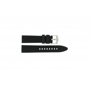 Bracelet de montre Universel 5809.01 Silicone Noir 20mm