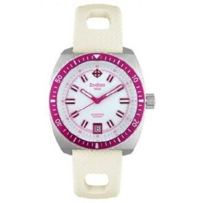 Zodiac bracelet de montre ZO2269 Caoutchouc Blanc