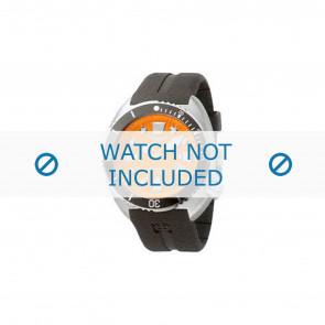 Bracelet de montre Zodiac ZO8002 / ZO8001 Caoutchouc Noir 21mm